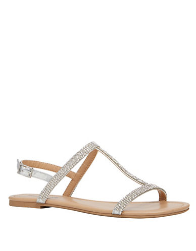Call It Spring Wilfrida Flat Sandals-SILVER-7