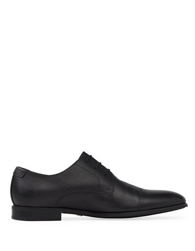 Aldo Badolla Leather Derby Shoes-JET BLACK-11