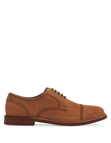Aldo Derrade Leather Derby Shoes-COGNAC-7