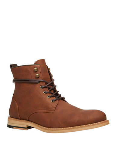Call It Spring Gilardi Lace-Up Boots-RUST-7.5