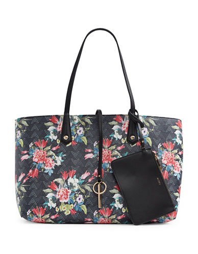 Aldo Brooking Floral Tote-BLACK-One Size 89042407_BLACK_One Size