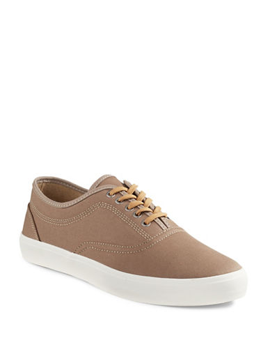 Hudson North Glaulia Lace-Up Canvas Shoes-TAUPE-7.5