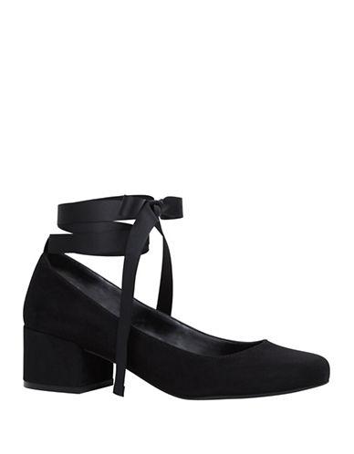 Call It Spring Staniue Ankle-Tie Mid-Heel Pumps-BLACK-10