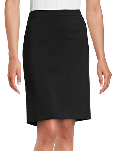 Hugo Rova Stretch-Wool Skirt-BLACK-EUR 44/US 12