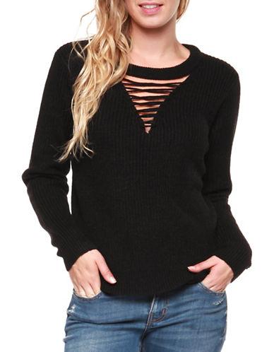 Dex Long Sleeve Sweater-BLACK-X-Small