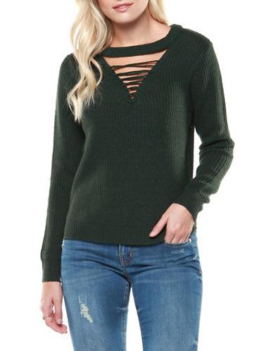 Dex Long Sleeve Sweater-GREEN-Medium