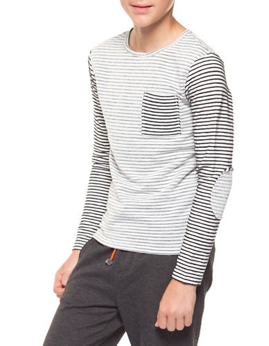 Dex Long Sleeve Stripe Top-GREY-Small 89646000_GREY_Small