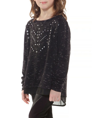 Dex Roundneck Glitter Top-BLACK-Small