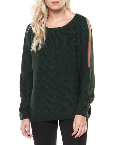 Dex Long Sleeve Sweater-GREEN-Small
