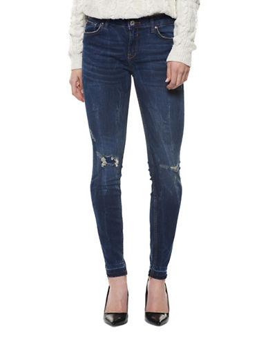 Dex Distressed Skinny Jeans-BLUE-29