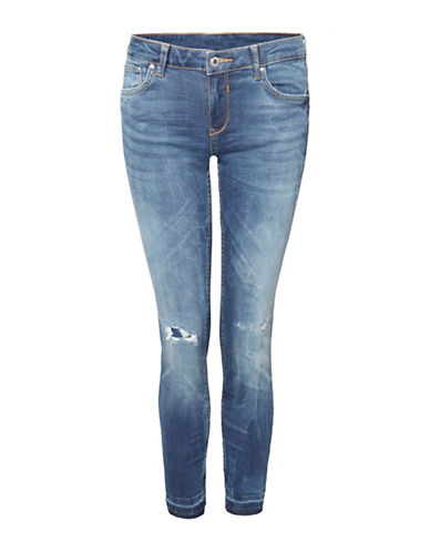 Dex Release Hem Distressed Jeans-BLUE-8