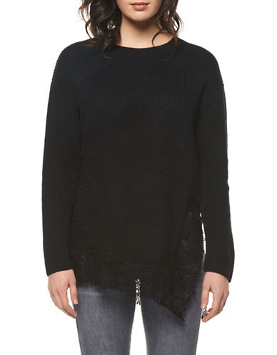 Dex Asymmetrical Sweater-BLACK-X-Large