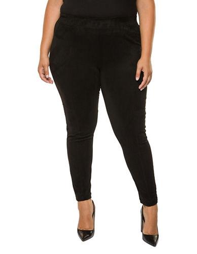 Dex Plus Basic Leggings-BLACK-1X