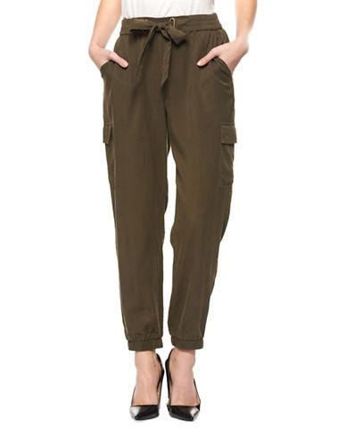 Dex Wide-Leg Drawstring Pants-GREEN-Large