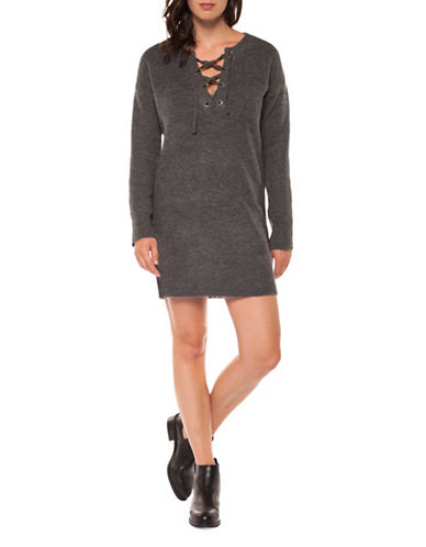 Dex Long-Sleeve Tunic Sweater-GREY-Small