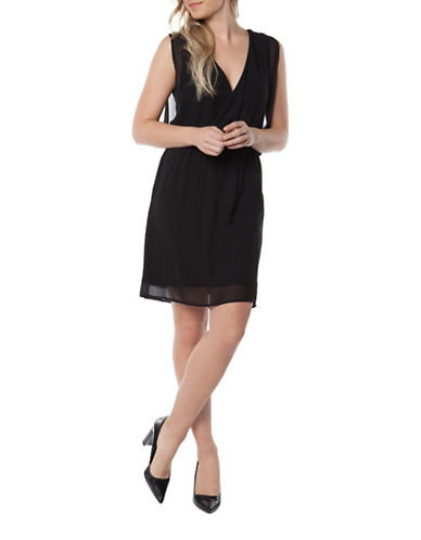 Dex Crossover Sleeveless Dress-BLACK-Large