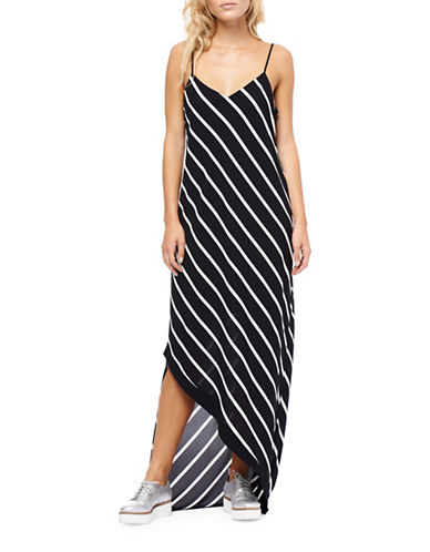 Dex Striped Asymmetrical Dress-STRIPE-Medium