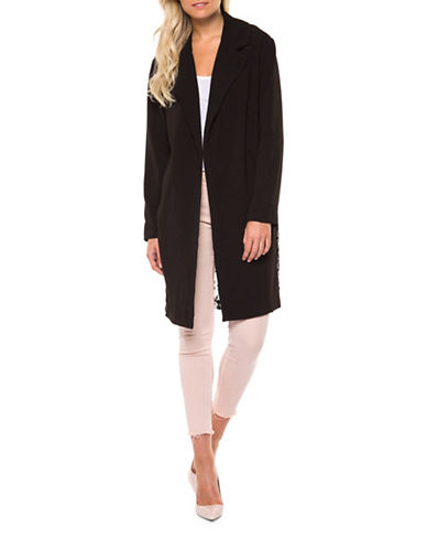 Dex Lace-Back Cardigan-BLACK-Medium