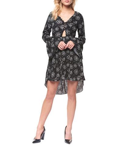 Dex Cut-Out Hi-lo Dress-BLACK MULTI-Small