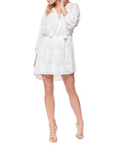 Dex Tassel Tie Dress-WHITE-Large