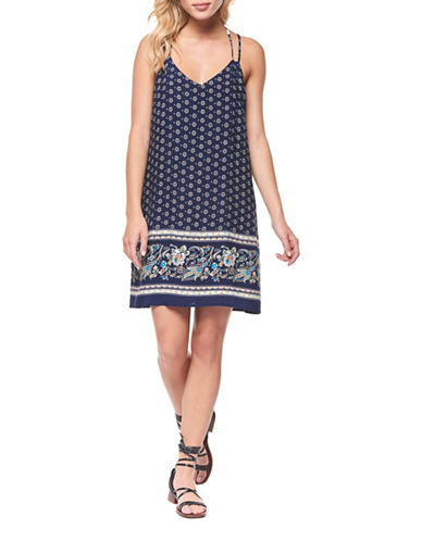 Dex Double Strap Shift Dress-NAVY MULTI-Small