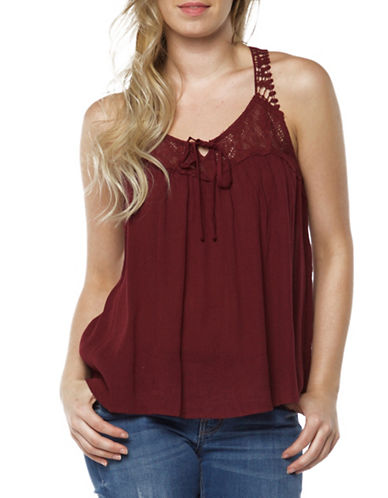 Dex Lace Insert Tank-RED-Small