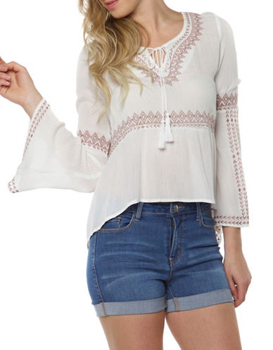 Dex Embroidered Top-NATURAL-X-Small
