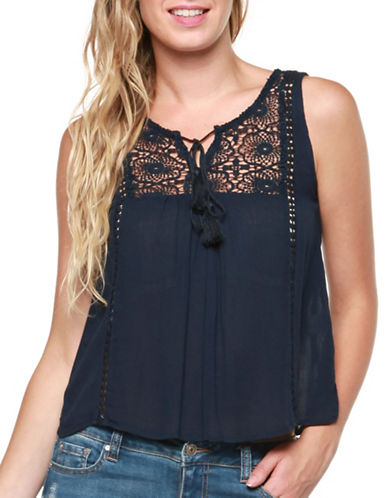 Dexed Out Lace Yoke Sleeveless Top-BLUE-Small 89410758_BLUE_Small