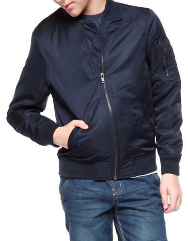 Dex Zip-Front Bomber-BLUE-14-16