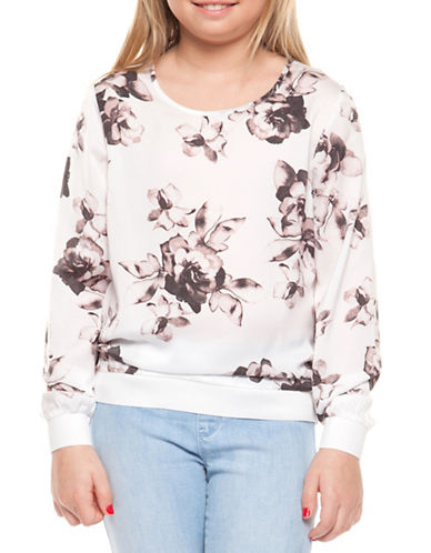 Dex Floral Graphic Top-PINK ROSES-Large