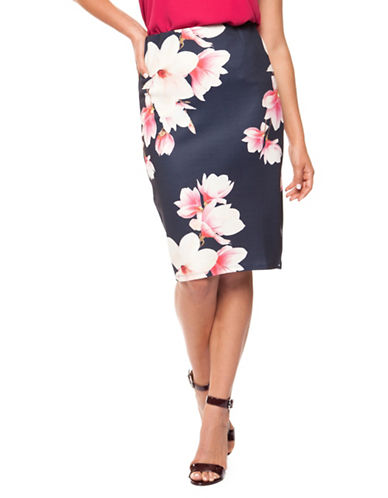 Dex Floral Printed Pencil Skirt-ASSORTED-X-Small