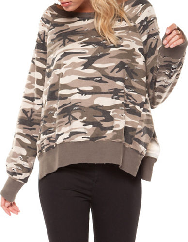 Dex Ripped Camo-Print Sweater-ASSORTED-X-Small