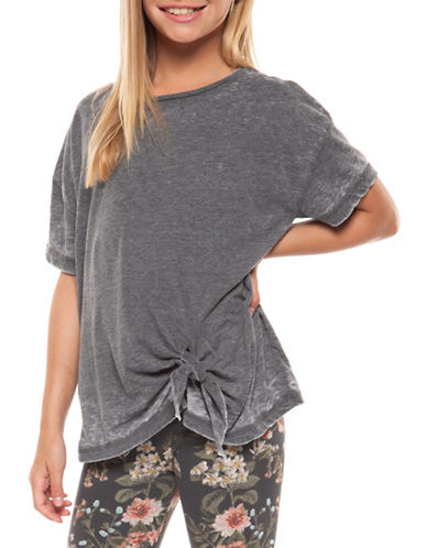 Dex Side Tie Tee-GREY-Medium 89764053_GREY_Medium