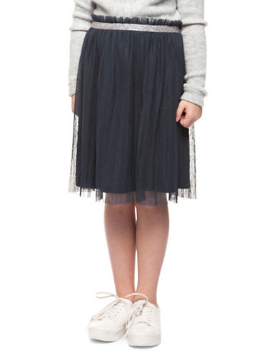 Dex Contrast Waist Pleated Skirt-DARK GREY-Medium