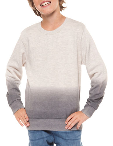 Dex Dip Dye Long-Sleeve Tee-GREY-Medium
