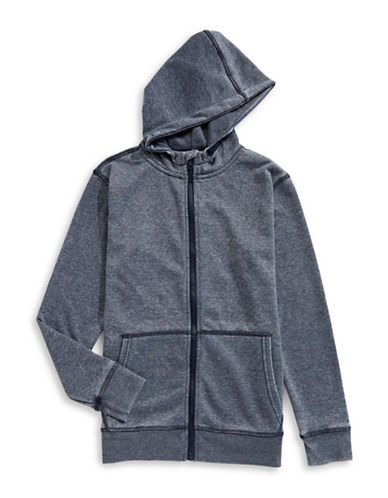 Dex Full Zip Long-Sleeve Hoodie-BLUE-Small