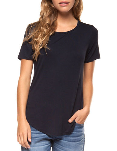 Dex Basic Solid Tee-BLACK-Large