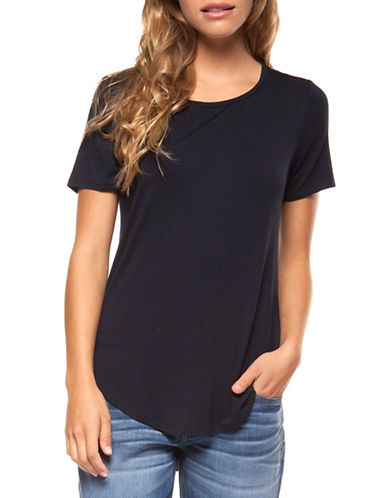 Dex Basic Solid Tee-NAVY-Large