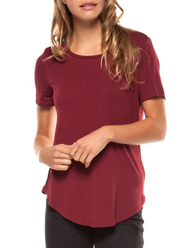 Dex Basic Solid Tee-RED-X-Small