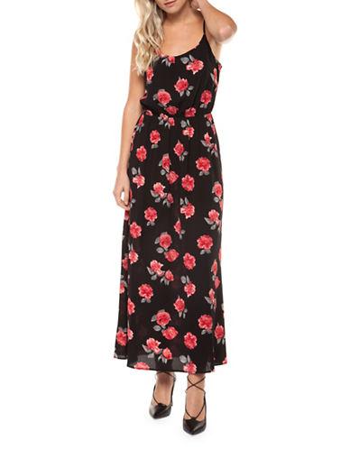 Dex Spaghetti Strap Maxi Dress-BLACK/RED-Large 90043271_BLACK/RED_Large