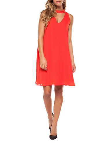 Dex Sleeveless Choker Dress-PAPAYA-X-Small