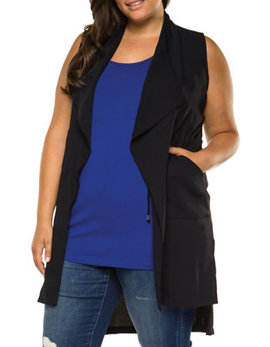 Dex Plus Open Front Vest-BLACK-2X