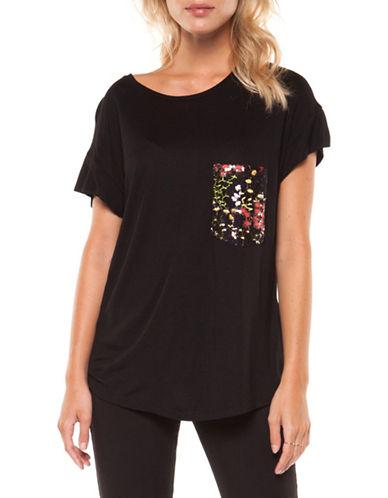 Dex Printed Pocket T-Shirt-BLACK-Medium 89977484_BLACK_Medium