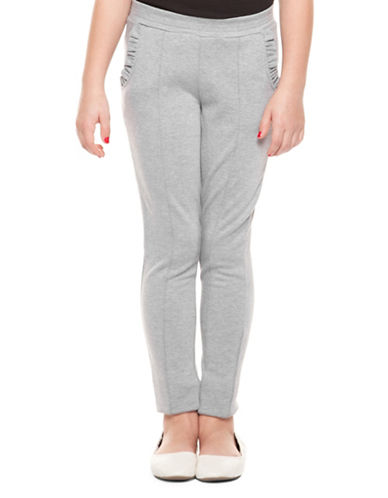 Dex Frill-Pocket Leggings-GREY-7-8