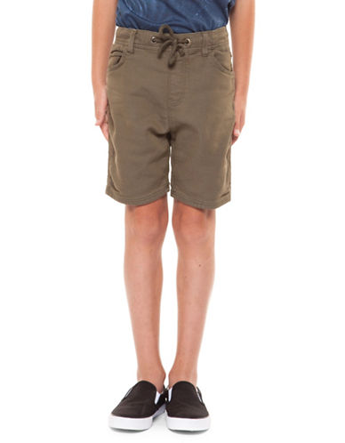 Dex Pull-On Knit Shorts-KHAKI-X-Large