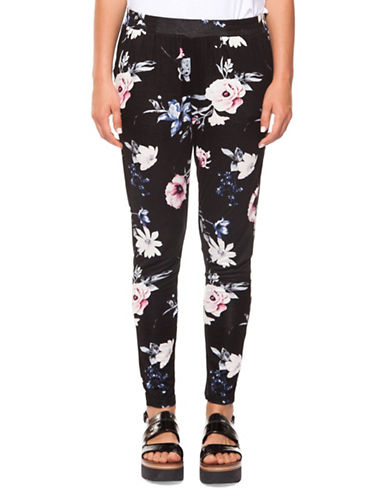 Dex Pull-On Floral Pants-BLACK-Large 90011572_BLACK_Large