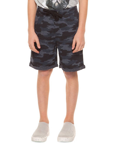 Dex Pull-On Printed Shorts-NAVY-X-Large