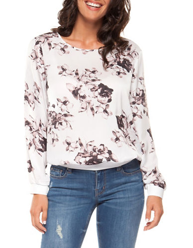 Dex Floral-Print Blouse-PINK-Medium