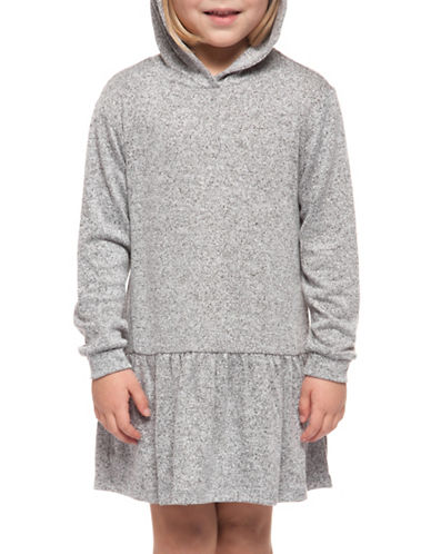 Dex Flare Hooded Dress-GREY-6