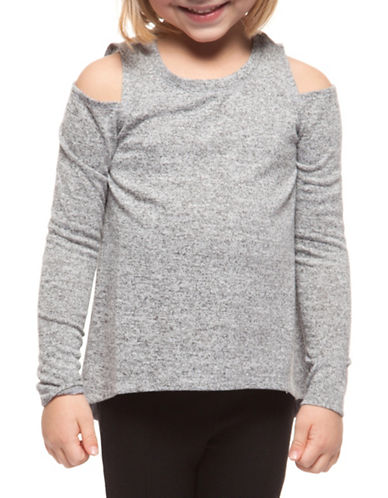 Dex Knit Cold-Shoulder Top-GREY-6